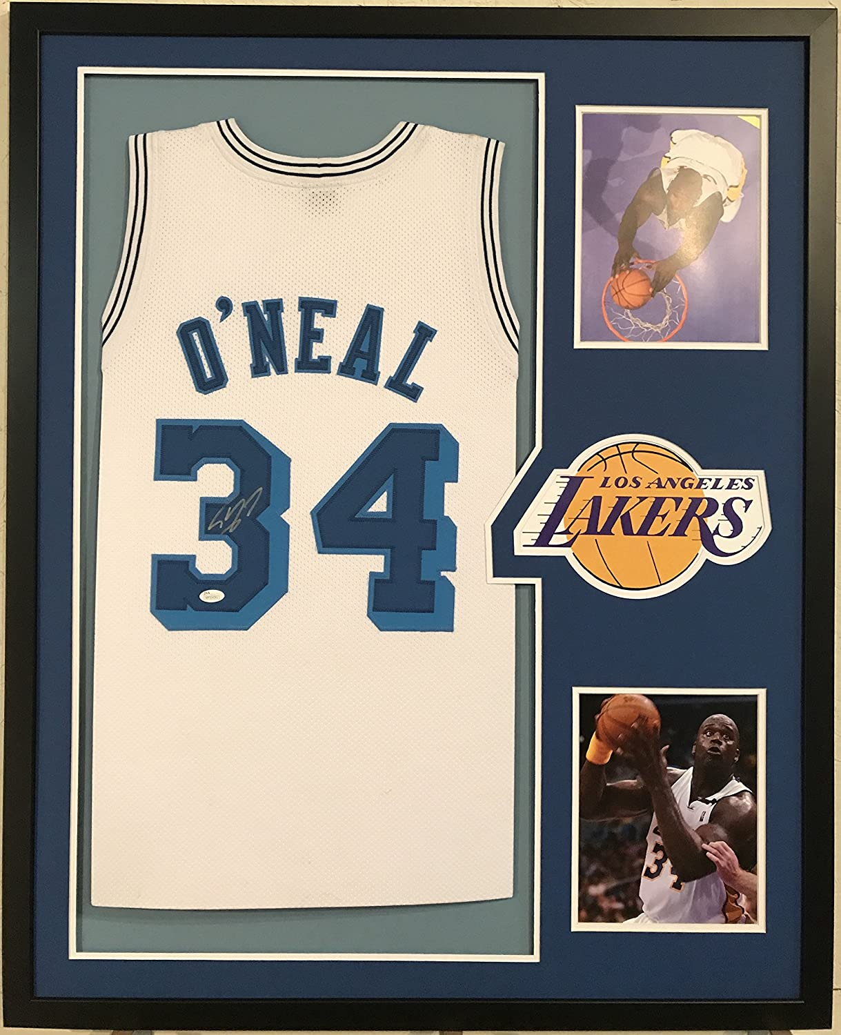 Shaquille O'Neal Autographed Custom Framed Los Angeles Lakers Jersey JSA COA