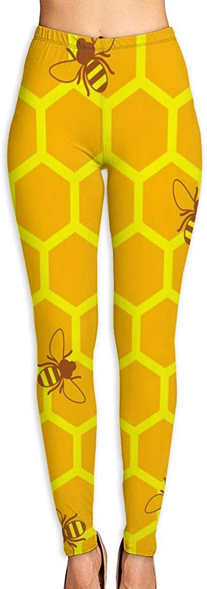 AUISS Girl Yoga Pants Leggings Honey Bee Running Workout Power Stretch Long Trousers Dance Gym