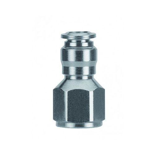 AIGNEP USA 57030-12-1/2 Push-in Fittings, Straight Female, Metallic Release Collet, 12 mm Tube x 1/2