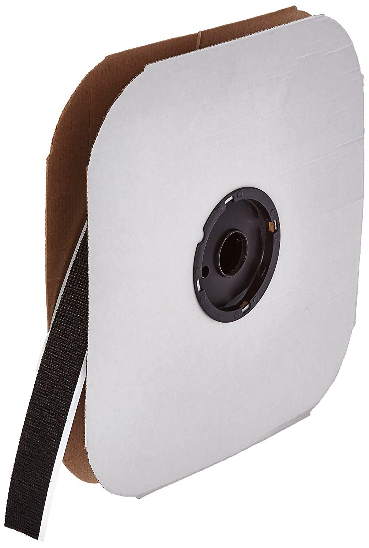 VELCRO 3804-SAT-PSA/H Black Woven Nylon Hook 88, 0132 Adhesive Backed, 1