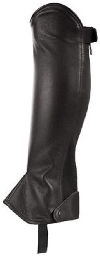 Black Horze Spirit English Leather Half chaps