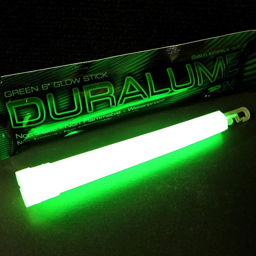 Duralume Emergency Glow Sticks - 6 Inch 12 Hour Long Lasting Military Grade Glow Sticks - Bulk Box of 50