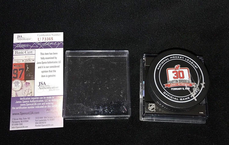 Autographed Martin Brodeur Puck - Retirement U73365 - JSA Certified - Autographed NHL Pucks