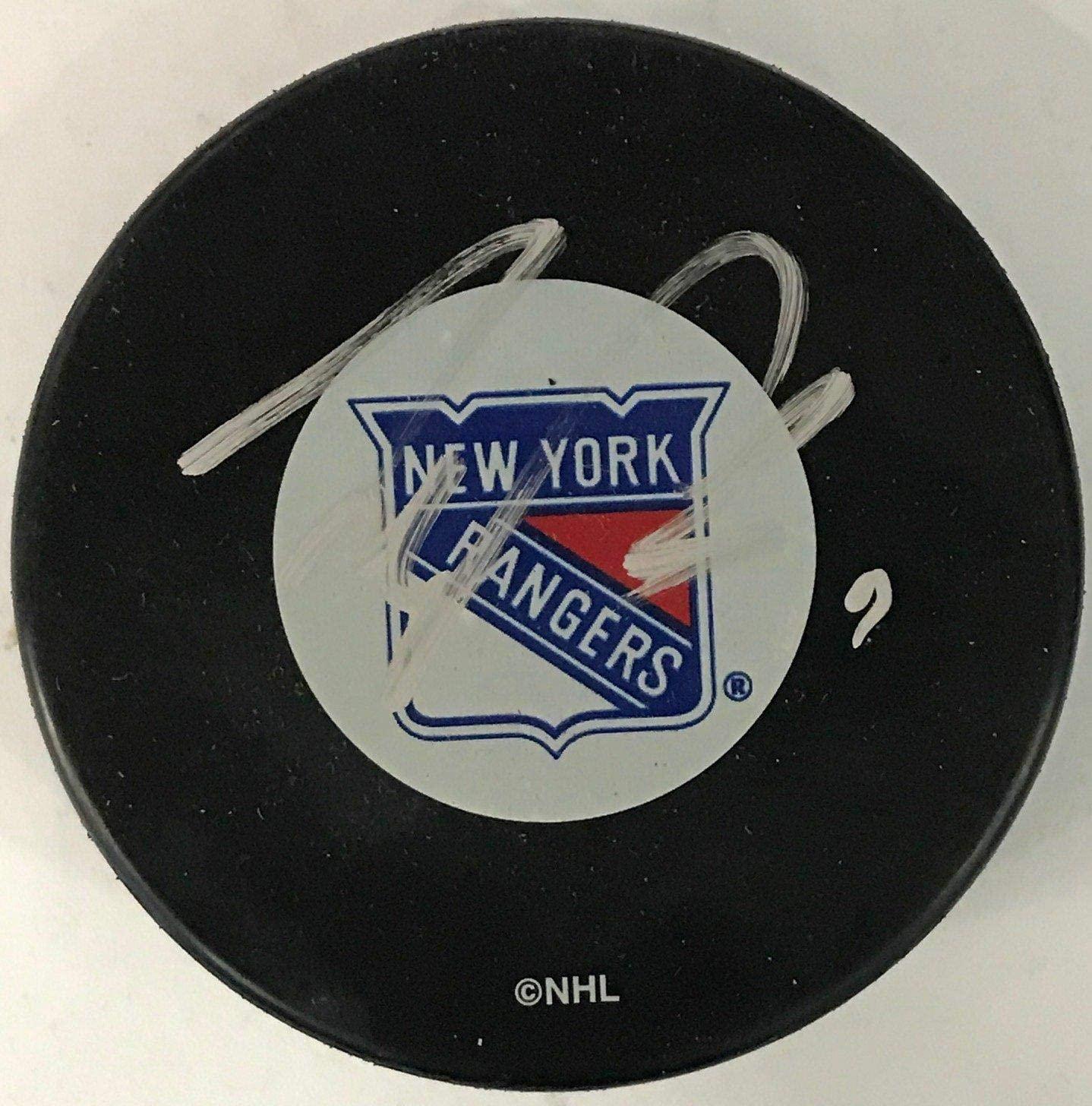 Scott Gomez Signed Puck - Autographed NHL Pucks