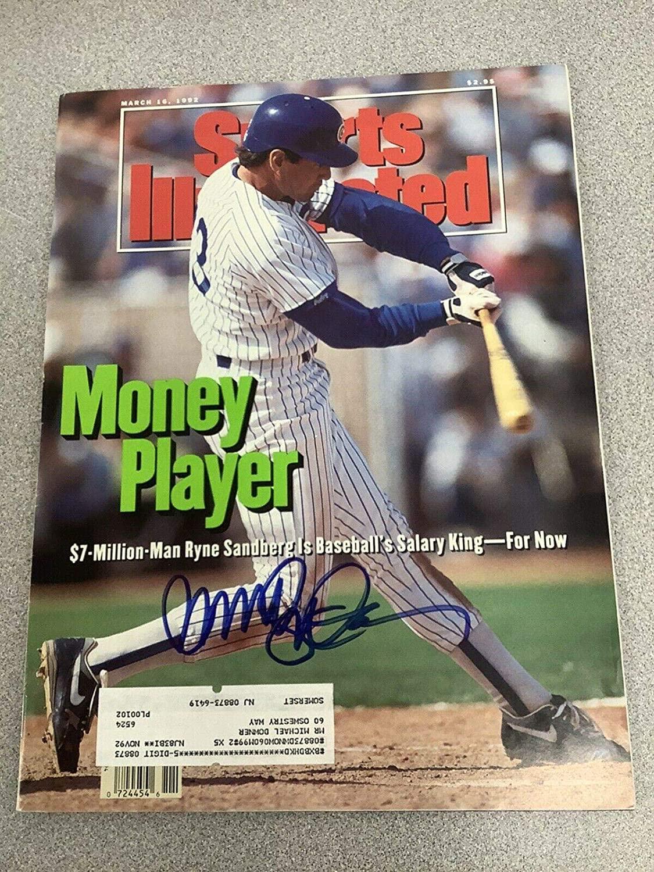 Ryne Sandberg Signed Sports Illustrated Mag Baseball Cubs HOF Auto 3/16/92 - JSA Certified - Autographed MLB Magazines