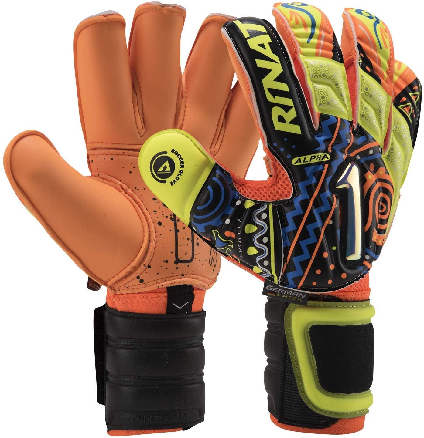 Rinat Soccer Goalkeeper Glove Uno Alpha Pro Training Free Customization & Pin