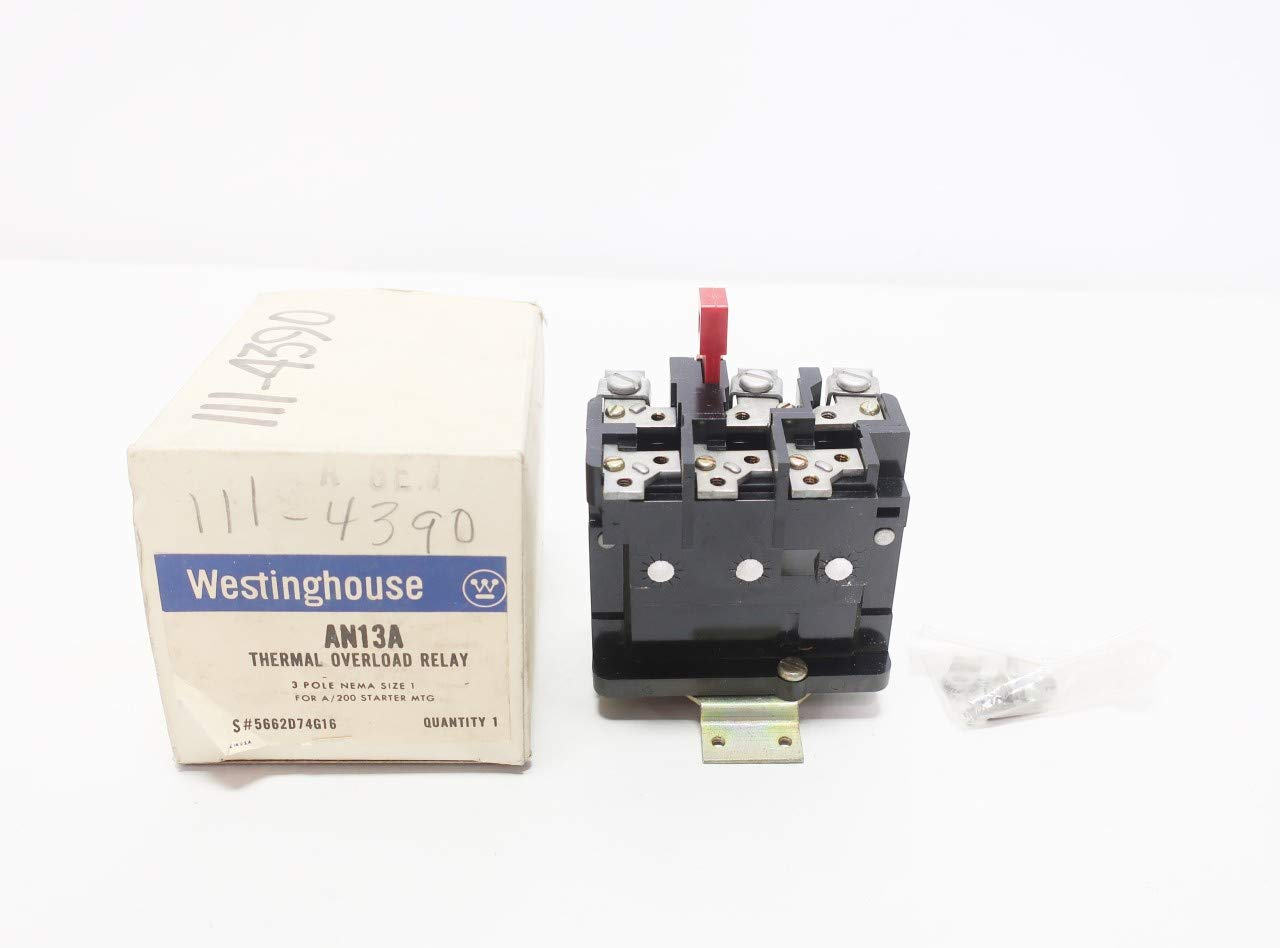 CUTLER HAMMER AN13A Size 1 3P Thermal Overload Relay