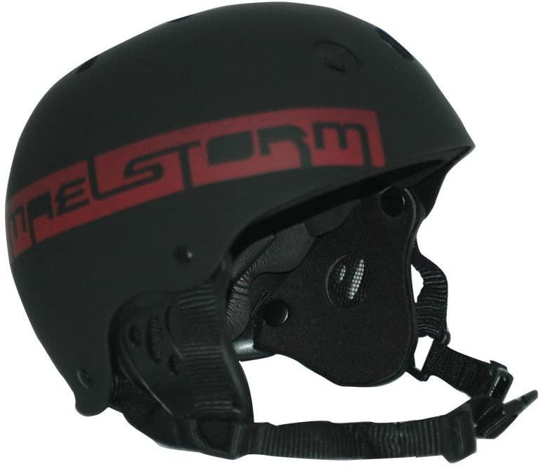 Maelstorm Watersports helmet Aqua Wave Matte Black Size L for Kitesurfing Kiteboarding Water Jet Skiing SUP Paddling Boating Canoeing