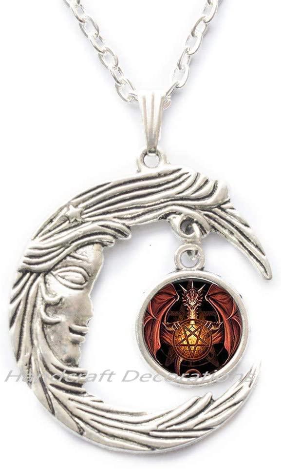 HandcraftDecorations Dragon Necklace-Dragon Gift-Dragons Pendant-Dragon Pendant-Dragon Jewelry-Mythical Jewelry-Mystical Jewelry.F176