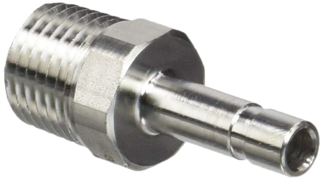 Parker 68PLSSP-6M-4-pk10 Prestolok PLS Push-to-Connect Fitting, Tube to Pipe, Plug-in Stem and Male Pipe Standpipe, 6 mm and 1/4