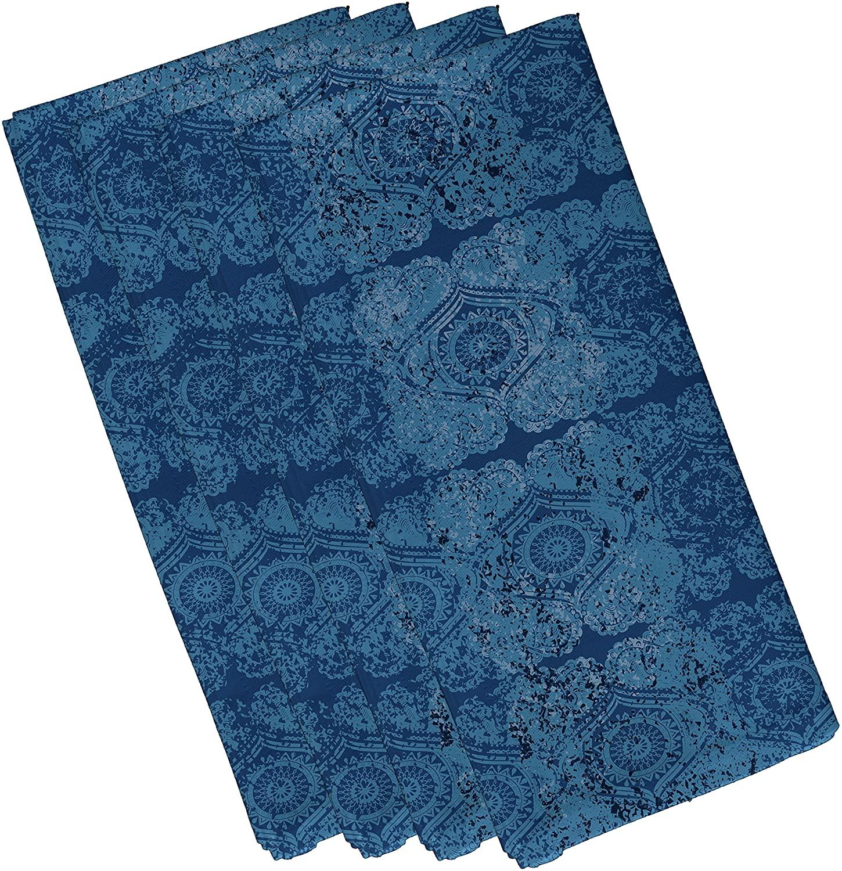E by design Patina, Geometric Print Napkin (Set of 4), 19 x 19, Blue
