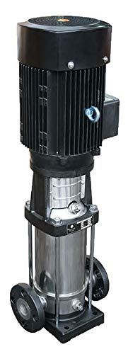 Barmesa Pumps 70120015 Vertical Multi-Stage Pumps BMV, 1.25 x 1.25, 18 Stage, 5 hp, 3 Phase, 3500 RPM, Cast Iron/Steel