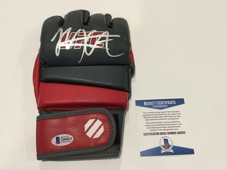 Khabib The Eagle Nurmagomedov Signed Autographed UFC Glove BECKETT BAS COA c - Beckett Authentication