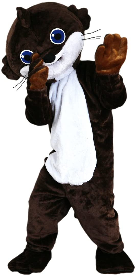 Brown Beaver Mascot Costume Cartoon Character Adult Sz Real Picture