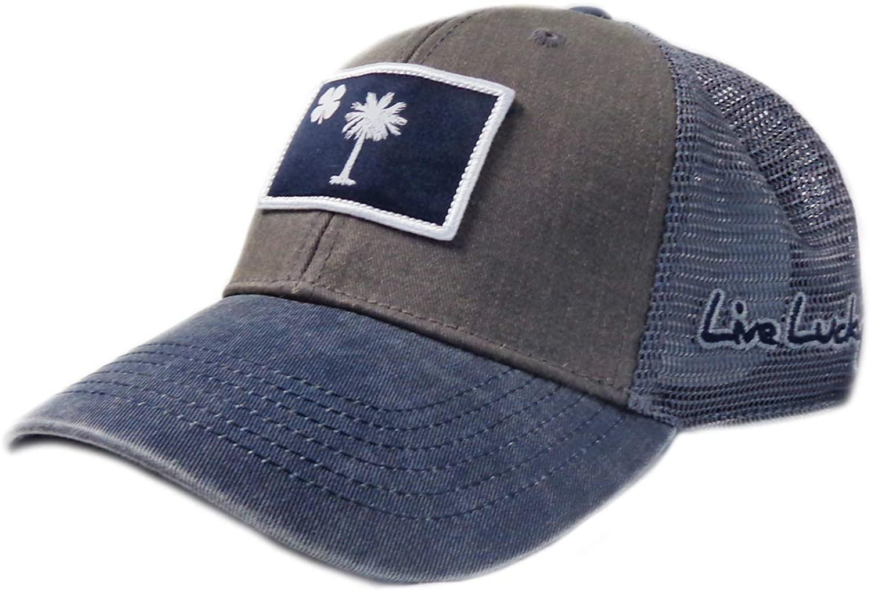 Black Clover New South Carolina Flag Patch Gray/Navy Adjustable Snapback Hat/Cap