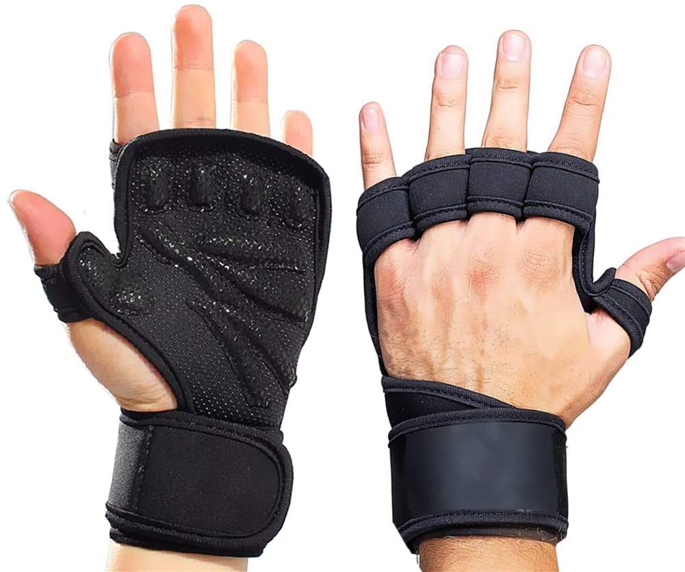 Smago Weight Lifting Gloves, Breathable Soft Workout Gloves with Extra Grip, Exercise Gloves, Gym Gloves for Powerlifting, Fitness, Cross Training for Men Women