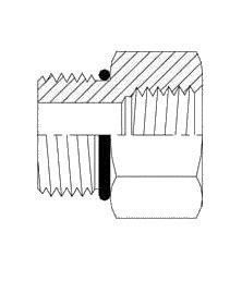 Brennan Industries 6405-24-24-O Steel Straight Tube Fitting, 1-7/8