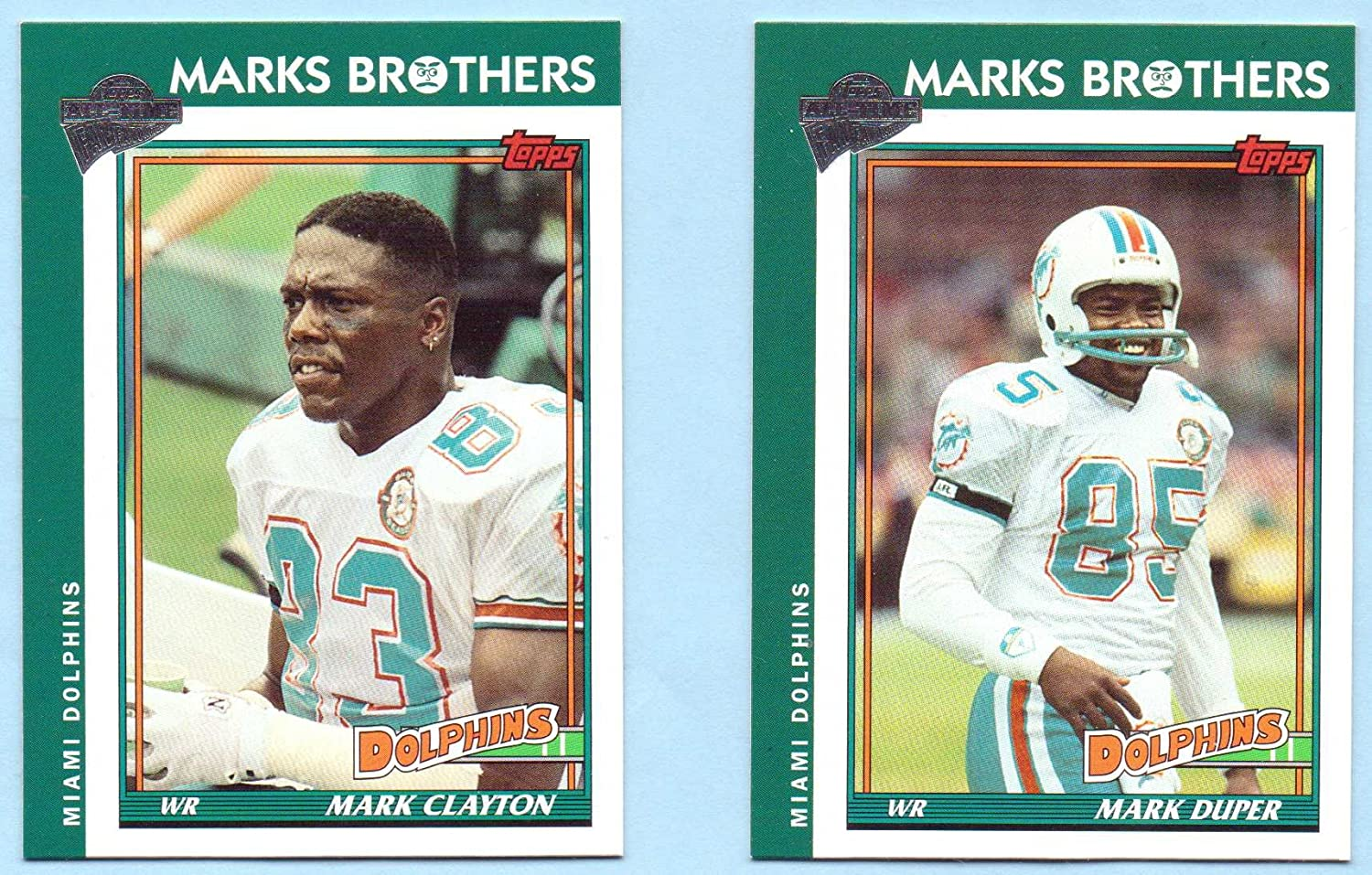 Mark Duper, Mark Clayton 2004 Topps All Time Fan Favorites Marks Brothers - Miami Dolphins
