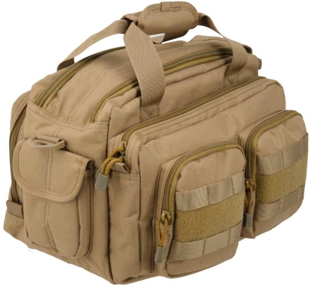 Lancer Tactical CA-980 MOLLE Padded Pistol Case Shooting Range Bag - Tan