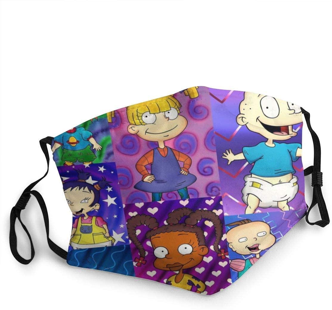 Wehoiweh Rugrats Adult Dustproof Windproof Scarf Headscarf Face Towel Headband Cold Sunscreen