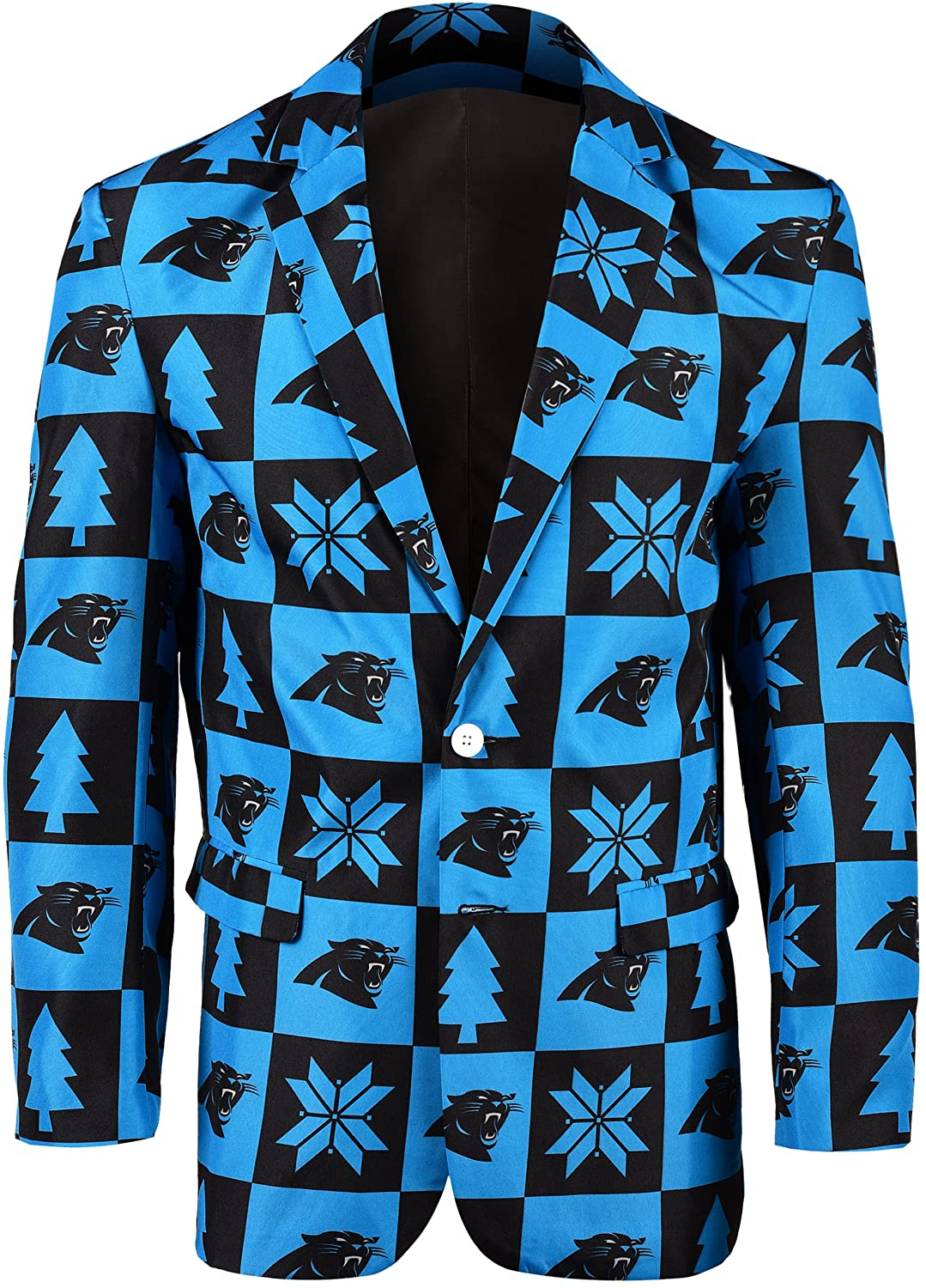 Carolina Panthers Patches Ugly Business Jacket - Mens Size 46