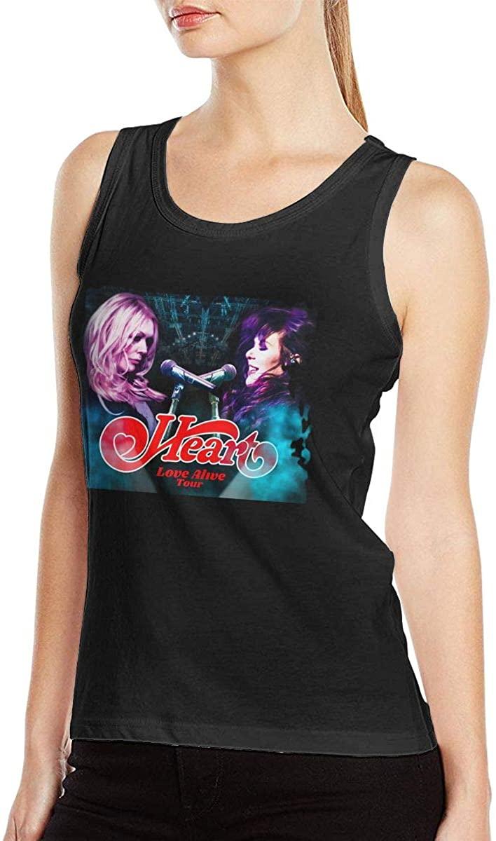 Heart Band-Love Alive Tour Women Music Band Popular Muscle Bodybuilding Tank Top Shirt Sleeveless Shirt Black