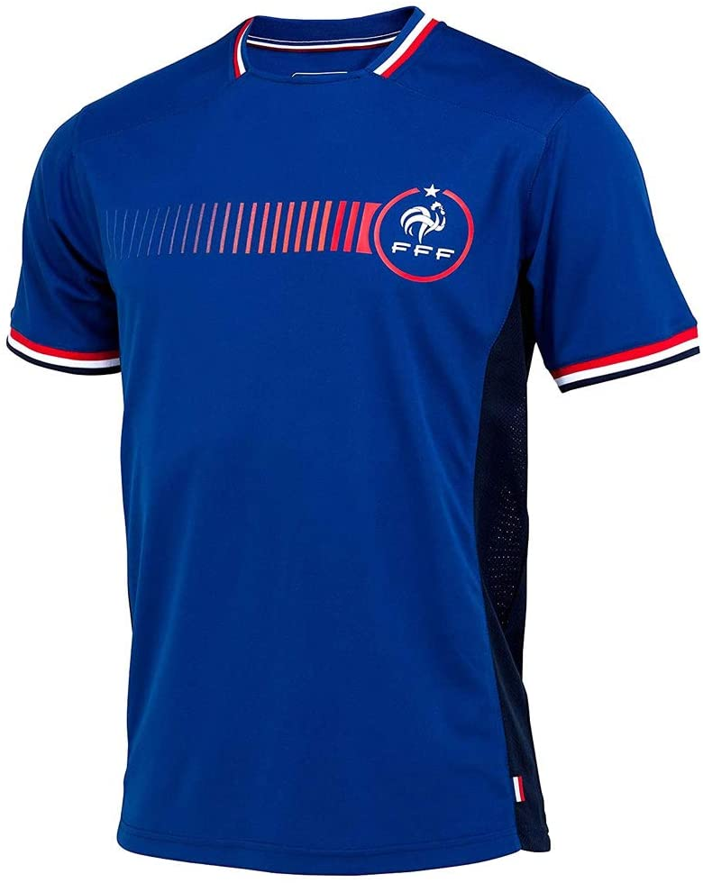 French Football Team Official Men's Soccer Jersey - Blue