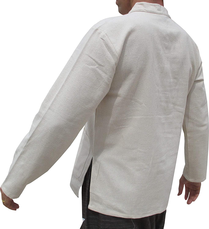 RaanPahMuang Chinese Mandarin Collar Navel Cotton Jacket Many Buttons Plus Sizes