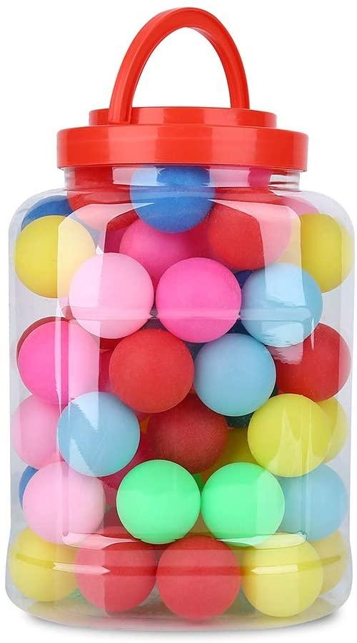 Aeloa Ping Pong Balls-60pcs/set Colorful Ping Pong Plastic Table Tennis Ball Entertainment Gaming Lottery Decorative Balls, 40mm