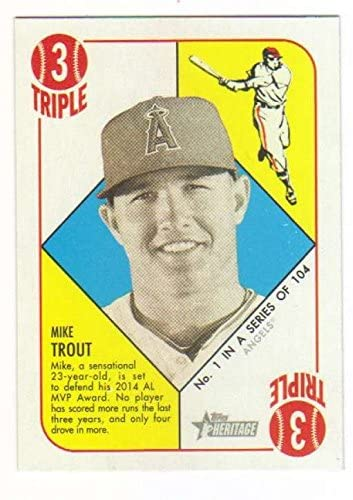 2015 Topps Heritage '51 Collection #1 Mike Trout Angels MLB Baseball Card NM-MT