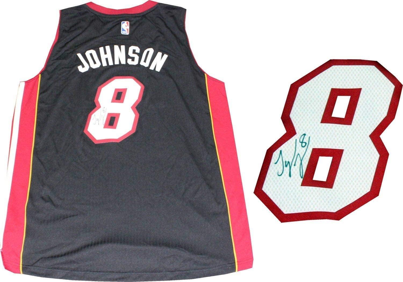 Tyler Johnson Autographed Jersey - Miami Heat Swingman Black - Autographed NBA Jerseys