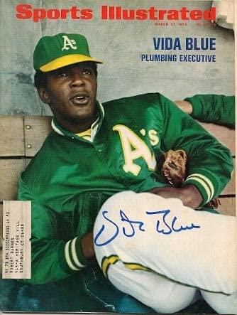 Autographed VIDA BLUE Sports Illustrated - Autographed MLB Magazines