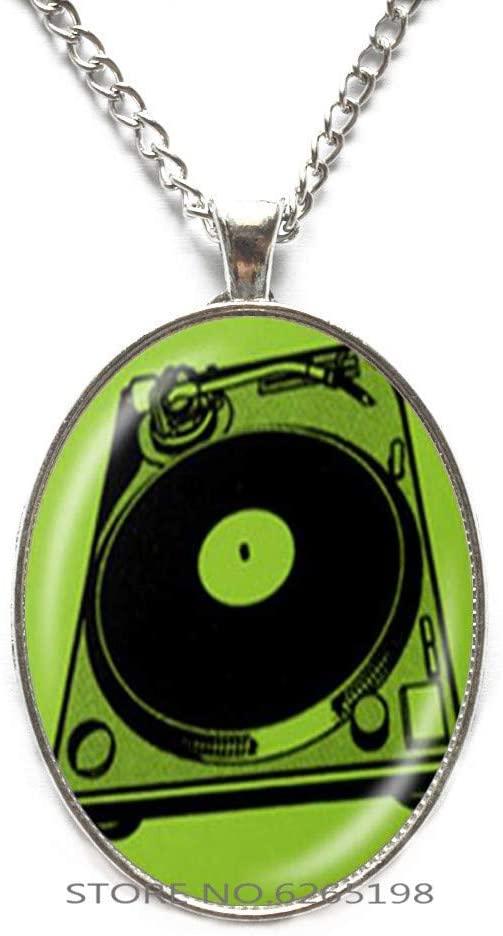 Vinyl Record Pendant. Gramophone Record Necklace. Vinyl Records Albums, Retro Jewelry, Birthday Gift,N110