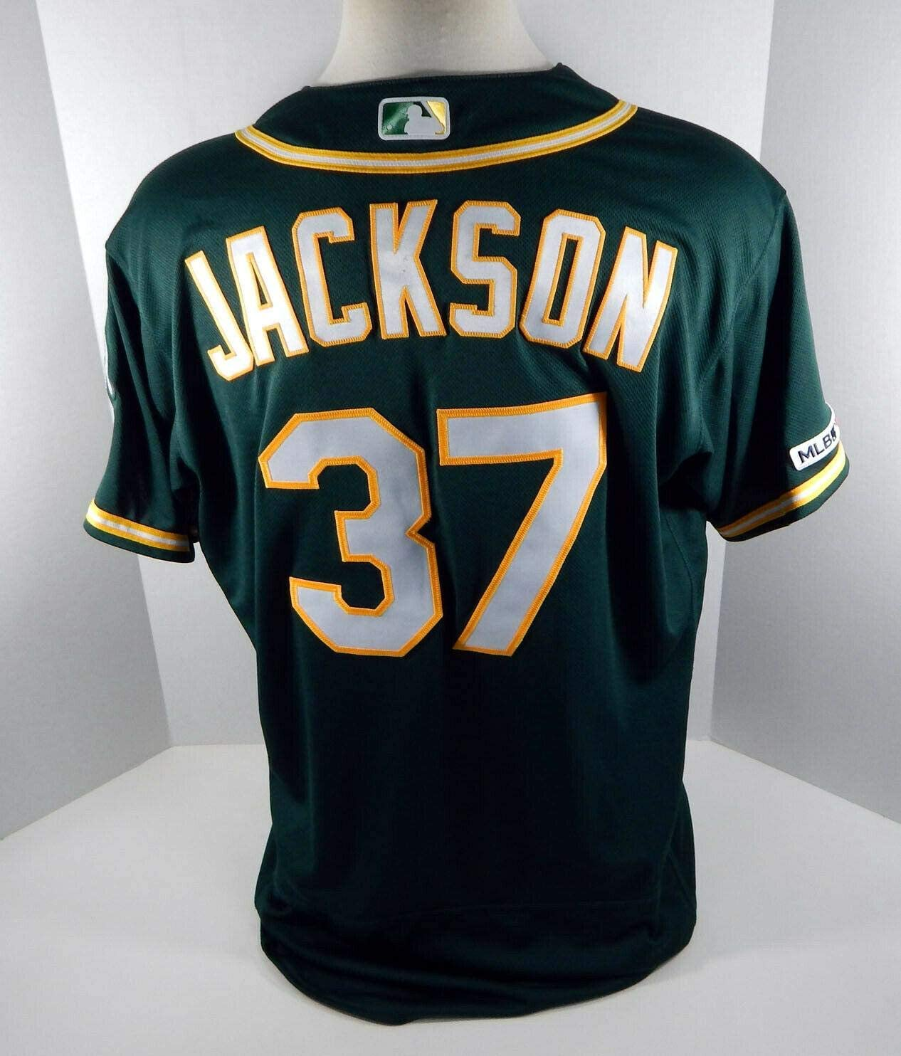 2019 Oakland A's Athletics Edwin Jackson #37 Game Issued Green Jersey 150 Years - Game Used MLB Jerseys