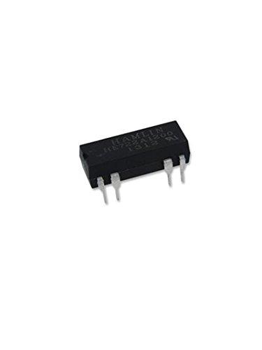 HAMLIN HE722A1200 REED RELAY, DPST-NO, 12VDC, 0.5A, THD (1 piece)