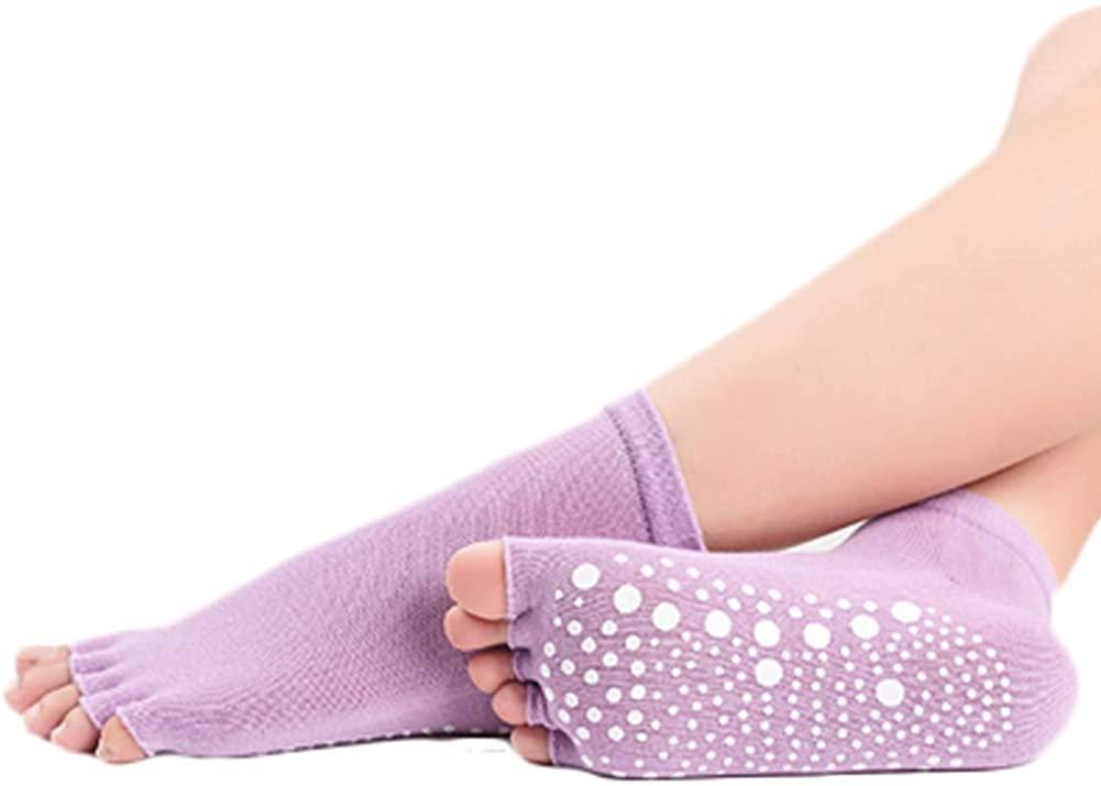 George Jimmy Five-Finger Cotton Sports Socks Soft Non-Slip Yoga Socks #16