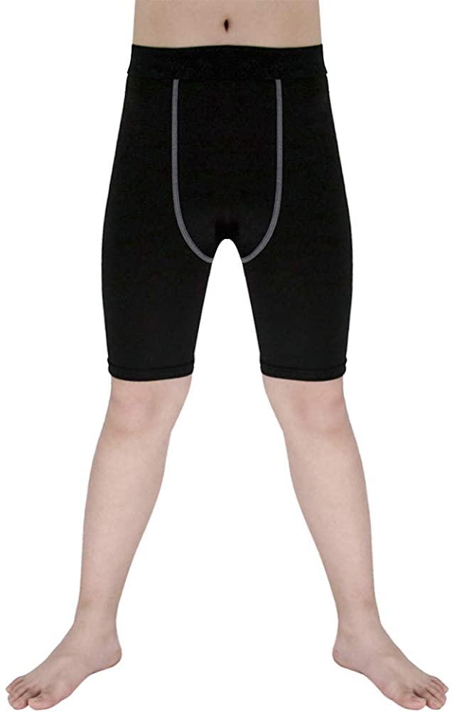 Sanke Youth Boys Soccer Running Shorts Sports Capri Compression Short Legging/Tights for Girls
