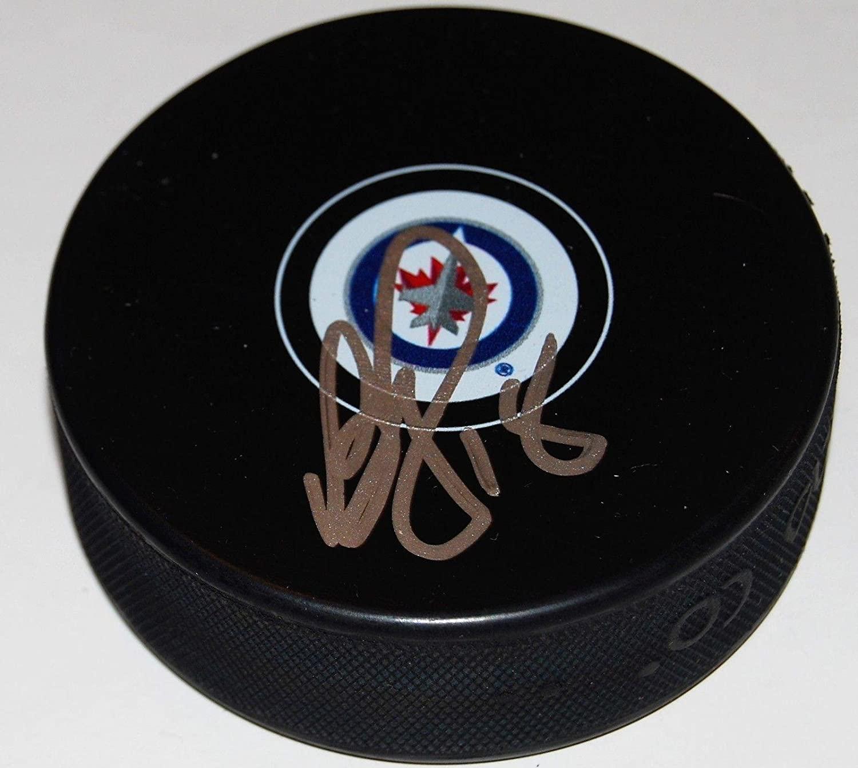Bryan Little (Atlanta Thrashers) Autographed Puck - souvenir W COA - Autographed NHL Pucks