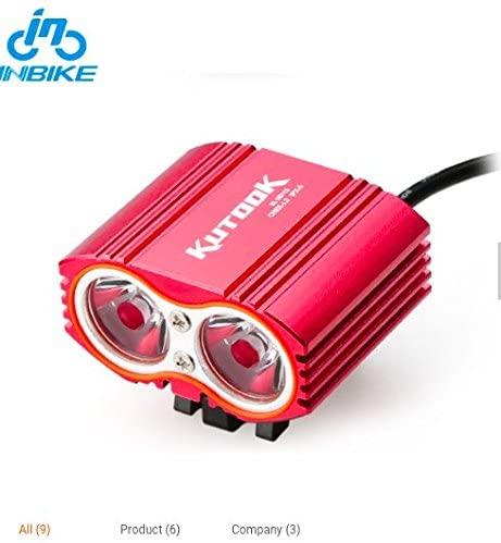 Hobopro Kutook USB Rechargeable Waterproof Bike Cycling Headlamp Headlights LED Bicycle Light(red)