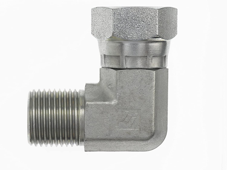 Brennan Industries 9224-12-12 Steel 90 Degree Elbow Conversion Adapter Fitting, 3/4