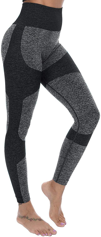 Lesfin Womens Sport Leggings High Waisted Yoga Pants Butt Lift High Waist Seamless Running Workout Athletic Tight
