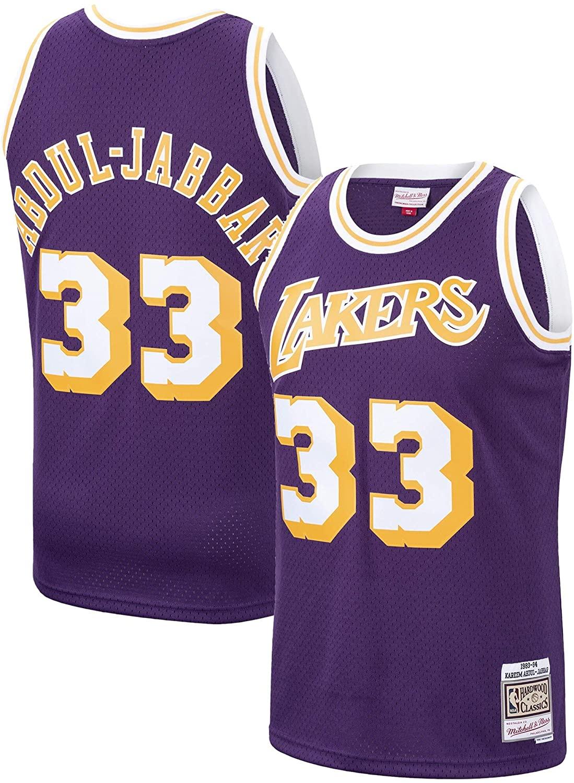 Kareem Abdul-Jabbar Los Angeles Lakers 1983-84 Swingman Purple Replica Jersey