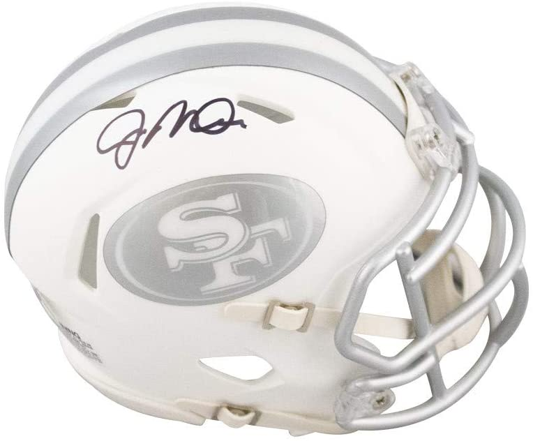 Joe Montana Autographed San Francisco 49ers Ice Mini Football Helmet - BAS COA