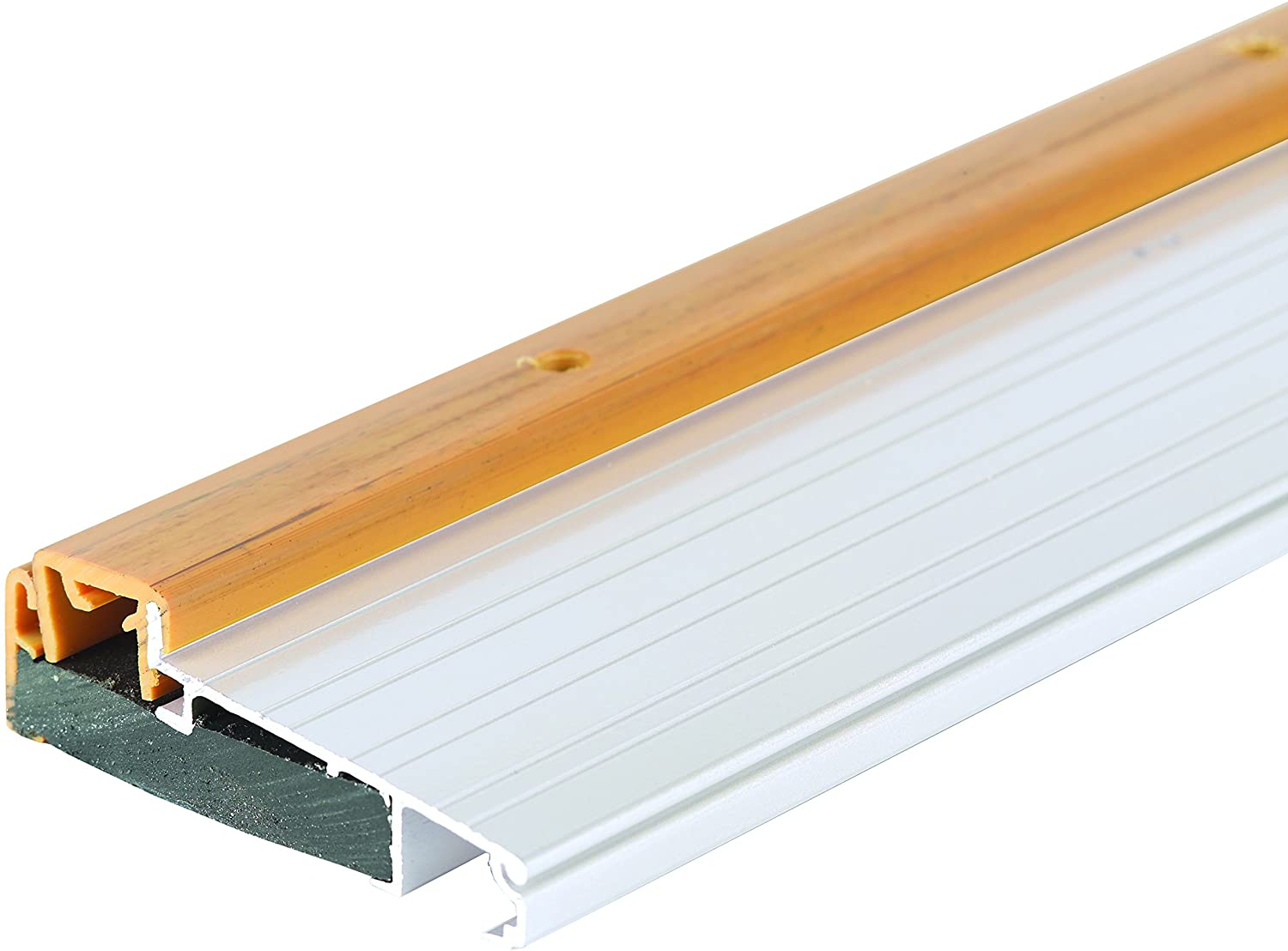 M-D Building Products 43822 M-D Adjustable Thermal Break Threshold, 4-9/16 in W X 1-3/8-1-5/8 in H, 36 L x 4-9/16 W x 1-5/8 H, Aluminum