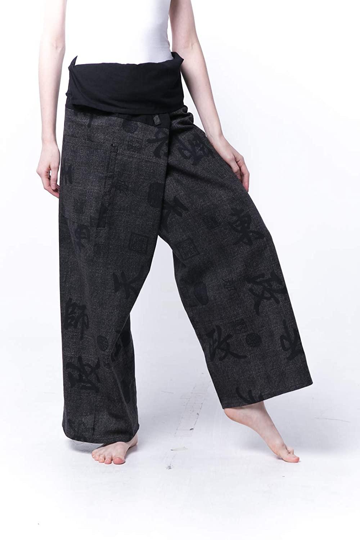 Kraft4Life Plus Size Premium Thai Fisherman Pants Baggy Bohemian Boho Hippie Yoga Harem Pants Palazzo Casual Pants