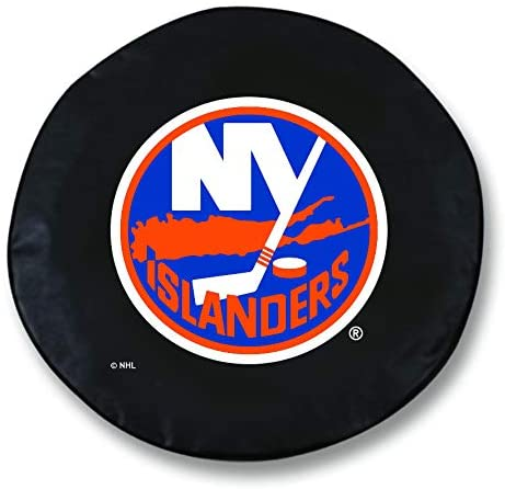 Holland Bar Stool Co. New York Islanders HBS Black Vinyl Fitted Spare Car Tire Cover