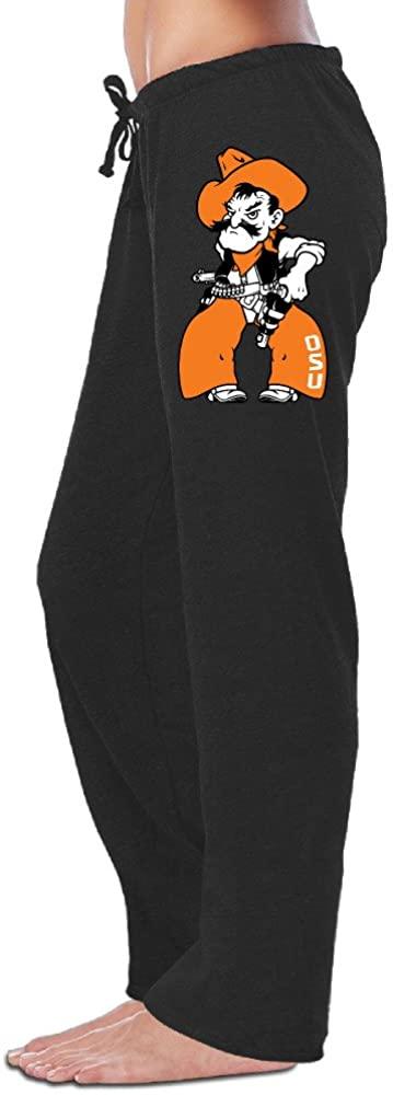 Z-Jane Oklahoma State University Cowboy Sweatpants Running Pants for Women Black
