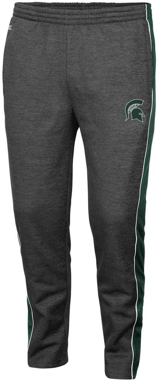 Colosseum Michigan State Spartans Adult NCAA Luge Fleece Pants - Charcoal