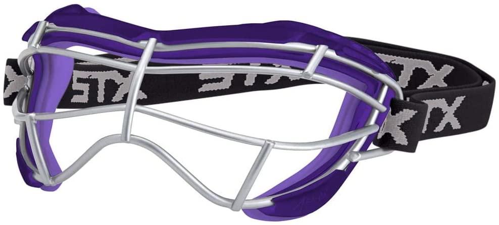STX Lacrosse Focus-S Goggle, Purple/Plum