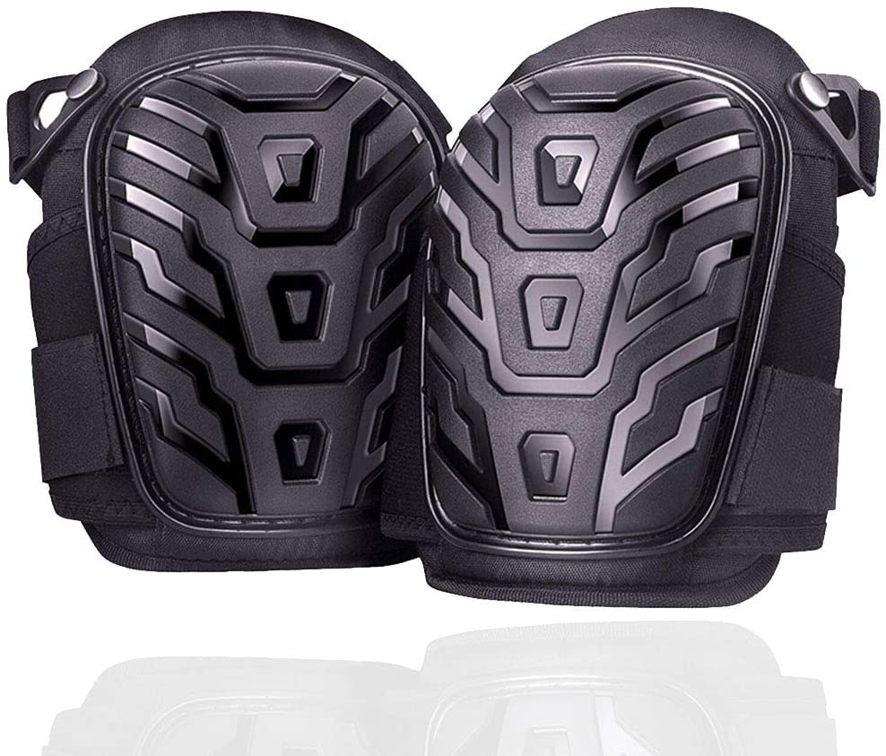 FANLI 2 Pack Professional Knee Pads, Durable Foam Padding Comfortable Gel Cushion Double Straps Adjustable Clip